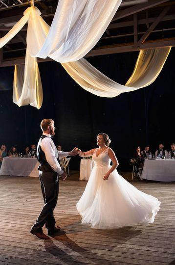 Rachel and Adam's first dance