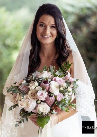 Cool tone wedding bouquet