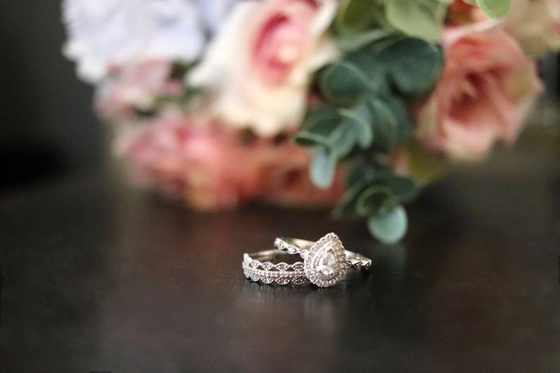 Detail photo of rings