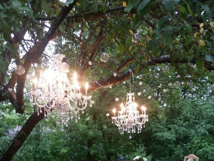 Tmx 1453434380450 Outdoor Wedding With Chandeliers Vintage Chairs Pi Dubuque, IA wedding rental