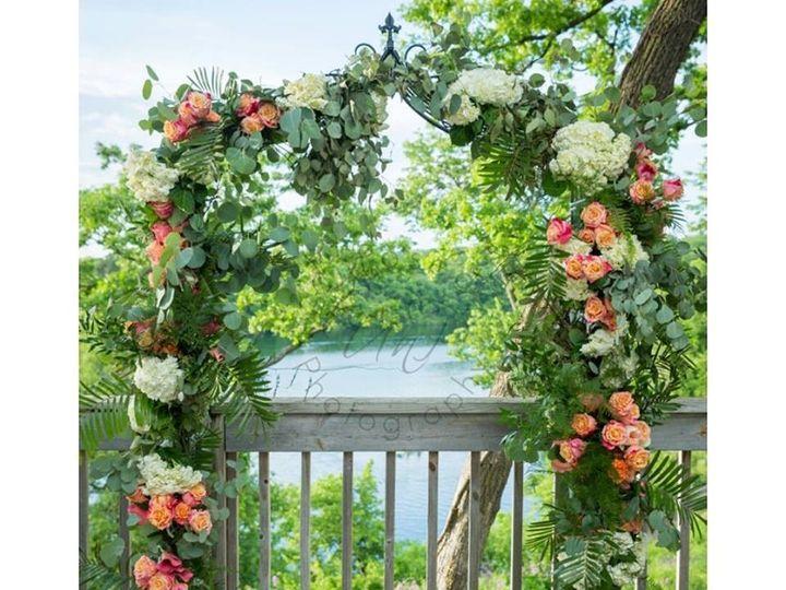 Tmx 1487348872795 Wrought Iron Metal Arch With Fresh Floral Dubuque, IA wedding rental