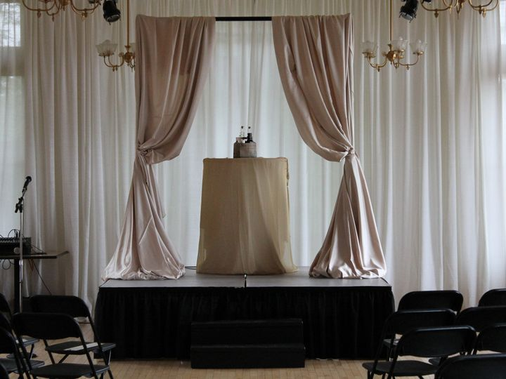 Tmx 1487378811679 Plexi Top Stages With Black Skirt At River Museum  Dubuque, IA wedding rental
