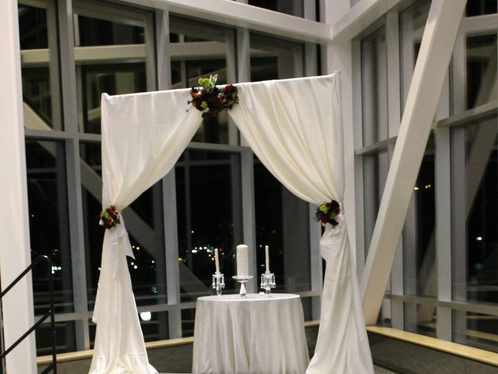 Tmx 1487378836853 Champagne Universal Chair Cover With Fabric Arch A Dubuque, IA wedding rental