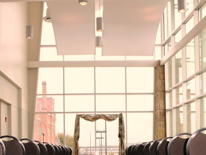 Tmx 1487378915704 Ceremony With Birch Galvanized Baby Breath Arch At Dubuque, IA wedding rental