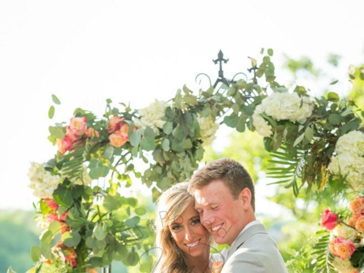 Tmx 1487379053517 Our Bride  Groom With Arch  Floral Backdrop Inside Dubuque, IA wedding rental