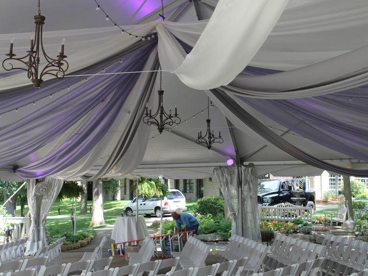 Tmx 1487379601172 Sheer Ivory And Eggplant Fabric In Eagle Ridge Ten Dubuque, IA wedding rental