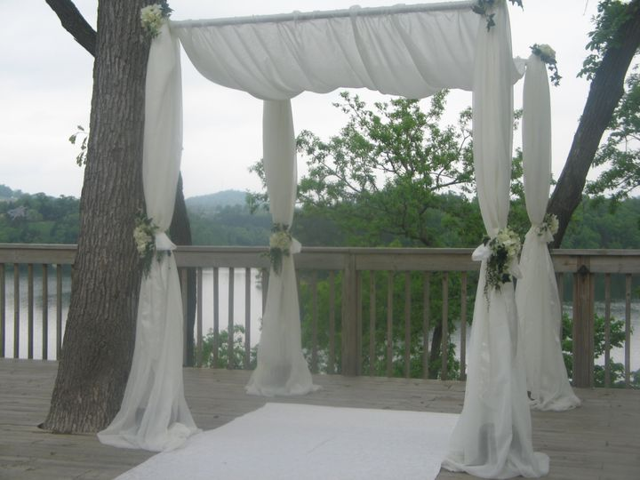 Tmx 1487379660419 Fabric Arbor Huppa Outside With Silk Floral For We Dubuque, IA wedding rental