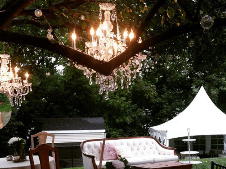 Tmx 1487379676918 Chandeliers Hanging In Tree Vintage Couch Tent By  Dubuque, IA wedding rental