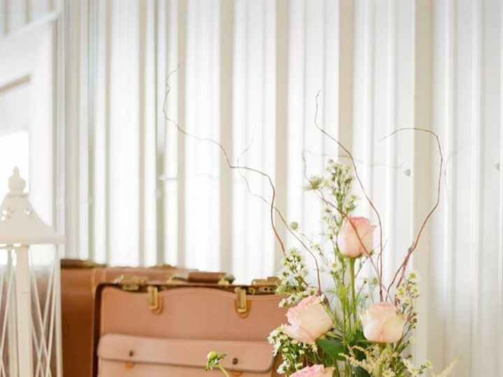Tmx 1487380050548 Suitcase Card Holder With Ivory Tall Lantern And F Dubuque, IA wedding rental