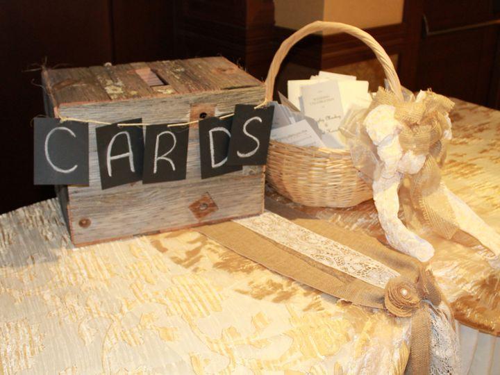 Tmx 1487380347002 Wood Box With Chalk Board Cards And Burlap With La Dubuque, IA wedding rental