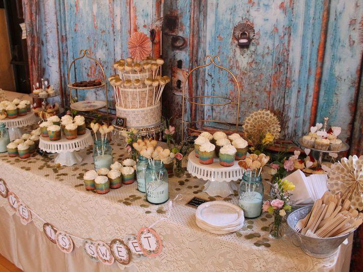 Tmx 1487380492950 Cupcake Dessert Candy Table With Vintage Backdrop  Dubuque, IA wedding rental
