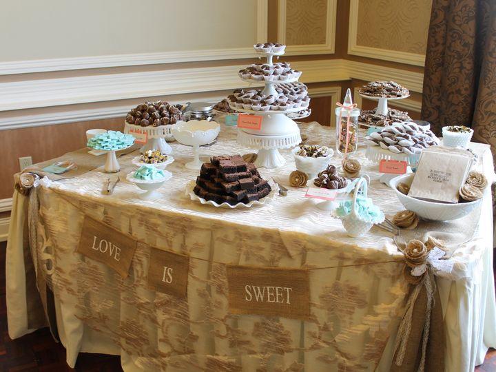 Tmx 1487380627962 White Milk Glass With Vintage Gold Lace Dessert Ta Dubuque, IA wedding rental