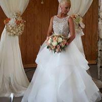 Tmx 1487969284767 Theresa Peterson With Fabric Birch Arch By Idr Dubuque, IA wedding rental