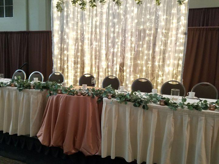 Tmx 1538076603 Ea97a39afeca0023 Sheer Backdrop With Lights   Eucalyptus  Satin Linen Center He Dubuque, IA wedding rental