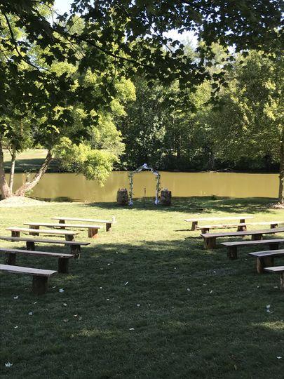 Outdoor venue seating