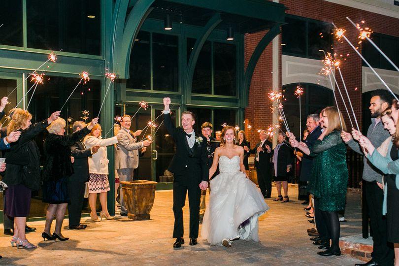Celebrating with the newlyweds