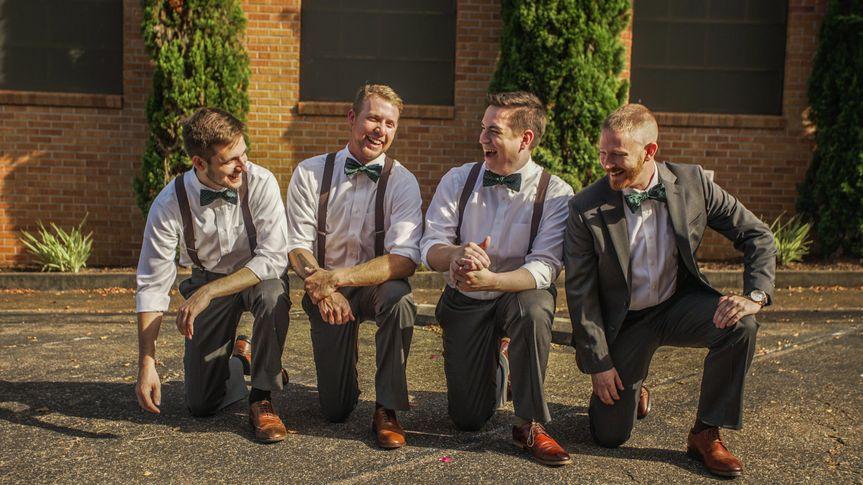Dapper wedding party