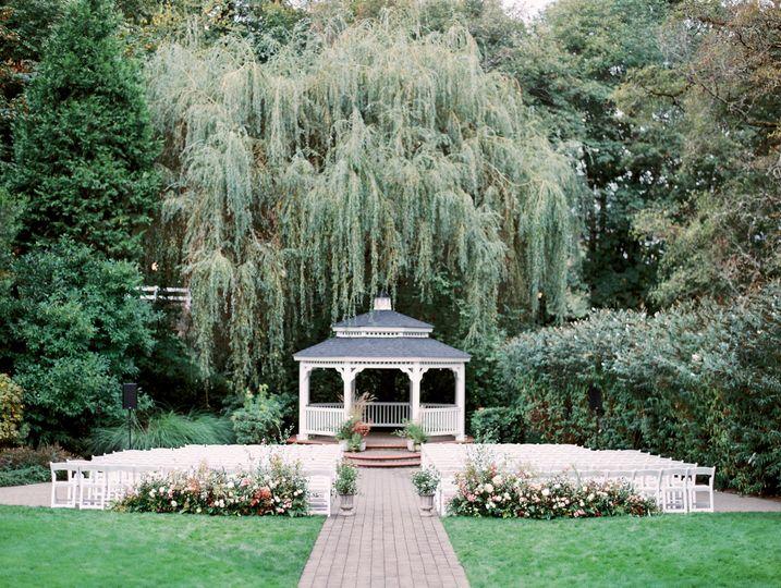 Abigail's Garden ceremony setup