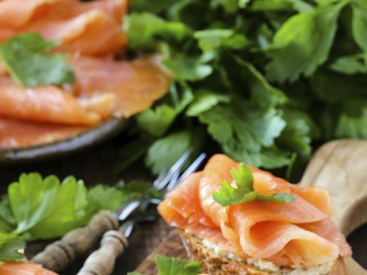 Tmx 1424382707340 Smoked Salmon Canape Eugene, OR wedding catering