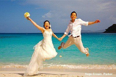 St John beach weddings are fun and inexpensive. Let it be just the 2 of you.