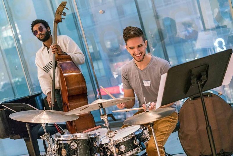 JazzCats rehearsing