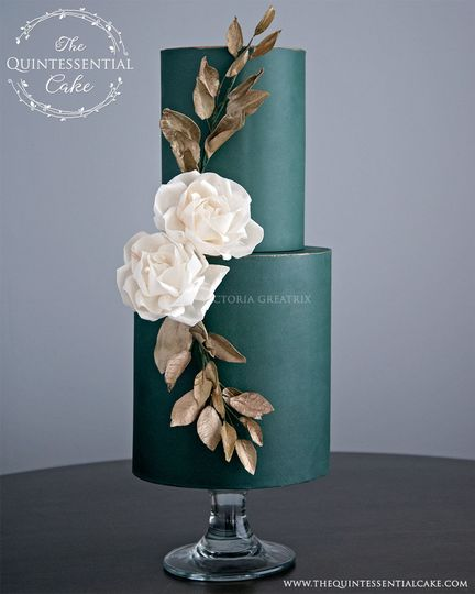 green cake with sola flowers 51 1001639 160063236949021