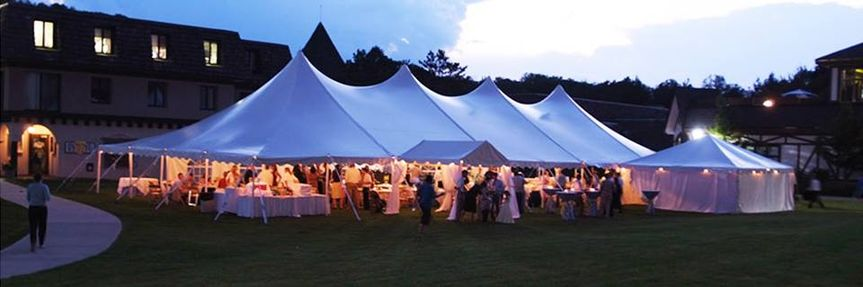 The tents at night