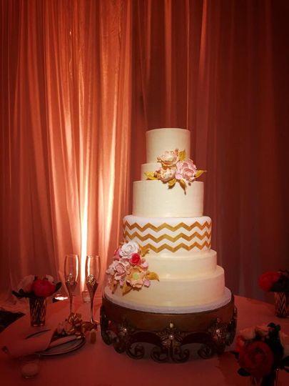 Dramatic cake