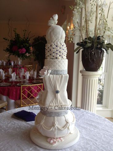 High class elegance with this 4' tall cake.