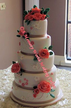 A Memory Worth Making Cakes Wedding Cake Red Oak NC WeddingWire