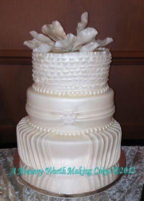 Tmx 1377791950593 Fb Rufflesmagnoliaamwmc Red Oak wedding cake