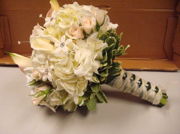 Hand Tied Bridal Bouquet with jewels