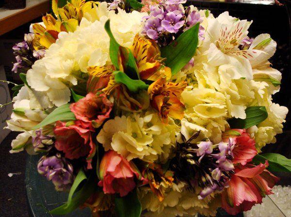mixed astromeria bridesmaid bouquet