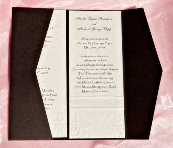 This Downright and Memorable invitation uses Basis brown paper with Domtar natural overlay printed...