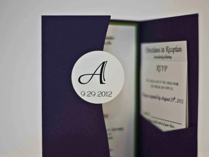Tmx 1424715444250 Circle Tab Osseo wedding invitation