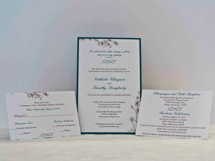 Tmx 1424715466144 Invite Set Osseo wedding invitation
