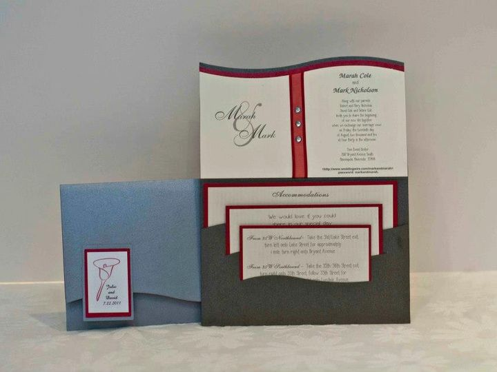 Tmx 1424715581420 Wave Invites Osseo wedding invitation