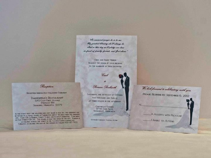 Tmx 1425069776156 Bride And Groom Invite Set Osseo wedding invitation