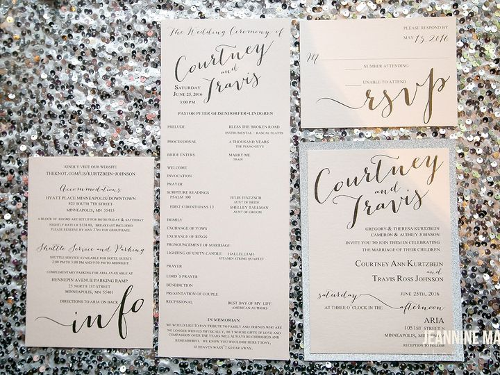 Tmx 1472566306055 Invitations By Toni Jeannine Marie Photography Min Osseo wedding invitation