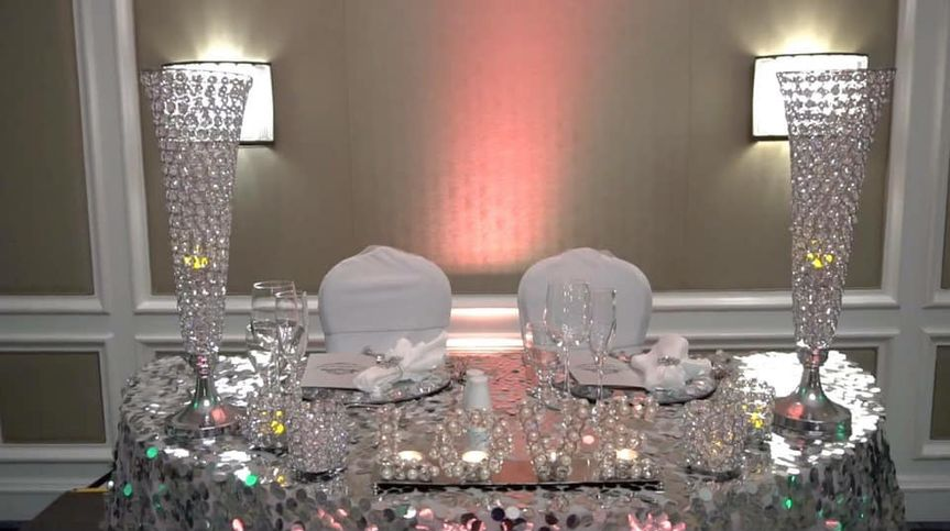 Lovely sweetheart table