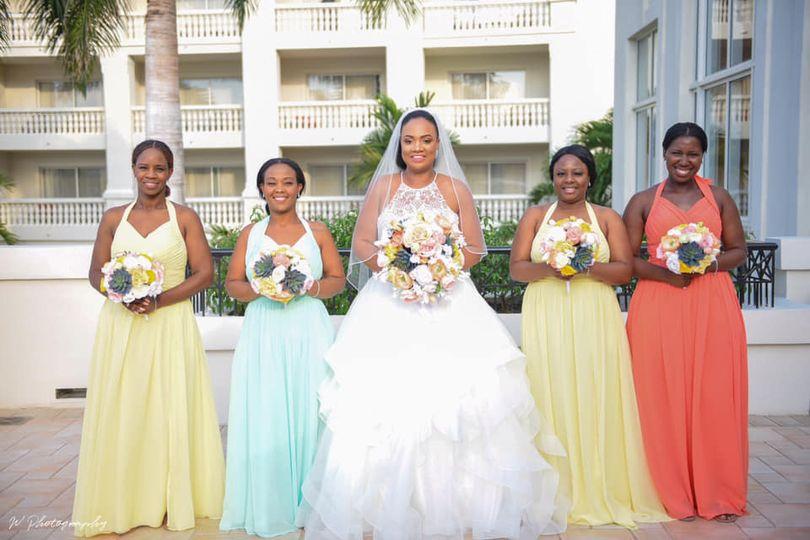 Lovely bride &bridesmaids