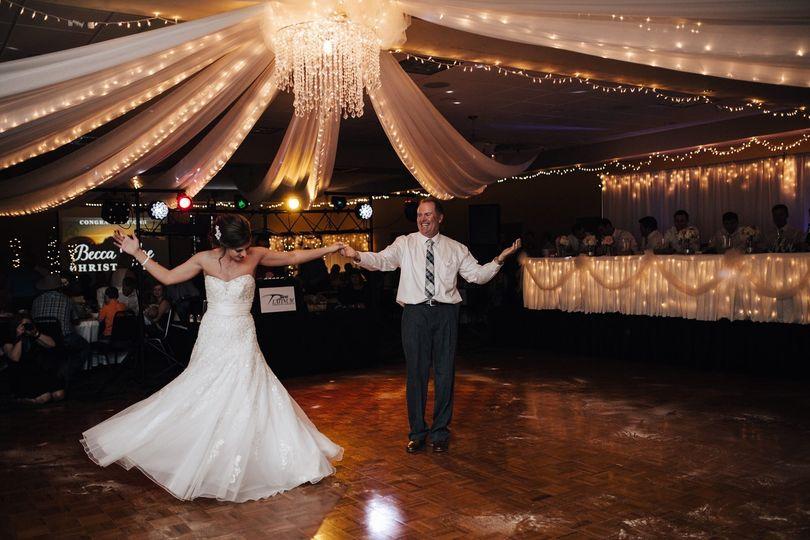 Dance Floor w/Lighted Draping