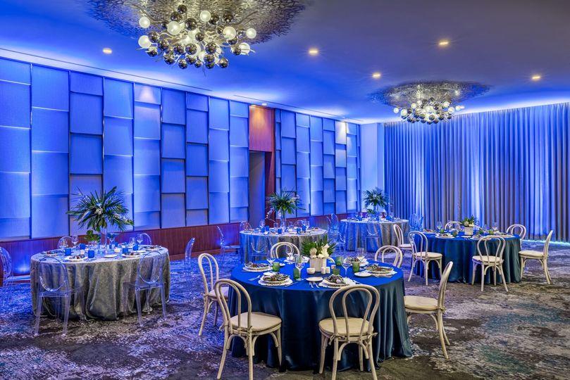 Stranahan ballroom in the evening