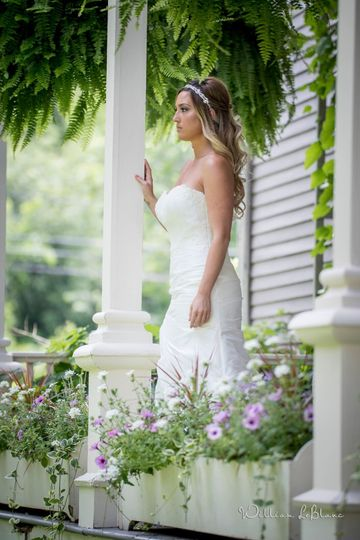 Bride on the porch