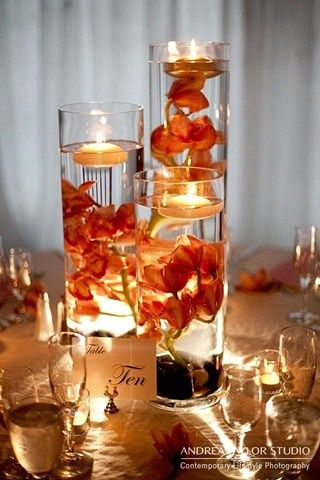 Tmx 1474037567165 Submerged Orange Orchids In Cylinders Pitman, NJ wedding florist