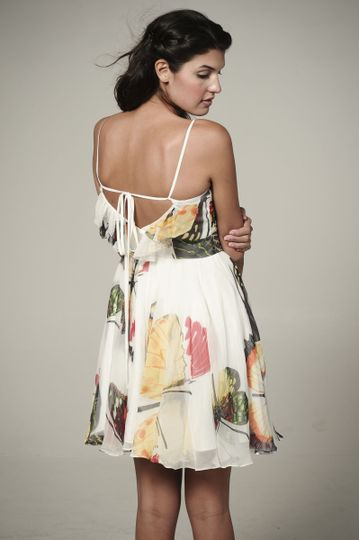 Firework  Chiffon ruffle dress with criss-cross back & party skirt.  Available in various colors!