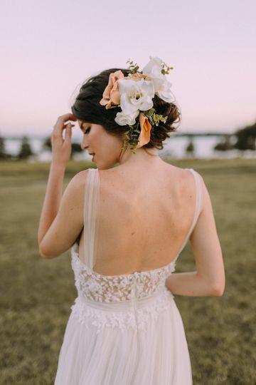 Floral hair design