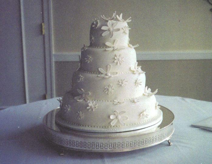 white daisy cak