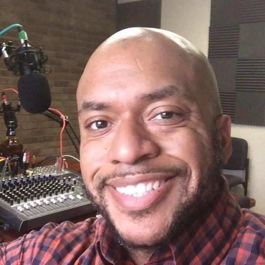 Dj In radio studio