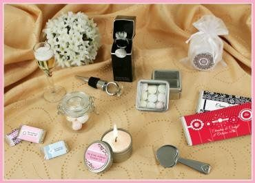 Personalized bridal shower and wedding favors. Great selection of designer favors for your guests.